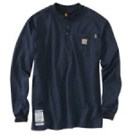 100237 Flame Resistant Force Cotton Long Sleeve Henley-In Store prices May Be Lower Please Call