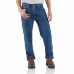 B172 Relaxed-Fit Straight-Leg Jean/ Flannel Lined- In Store prices May Be Lower Please Call