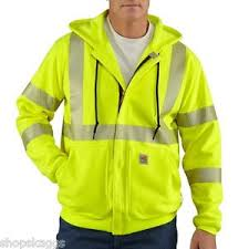 100503 High-Visibility Zip-Front Class 3 Sweatshirt-In Store prices May Be Lower Please Call