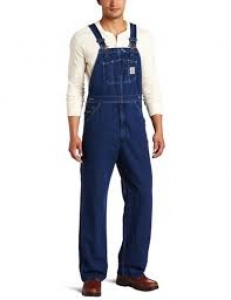 R07 Washed-Denim Bib Overalls- In Store prices May Be Lower Please Call