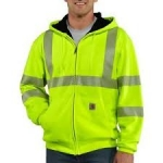 100504 High-Visibility Zip-Front Class 3 Thermal- Lined Sweatshirt-In Store prices May Be Lower Please Call