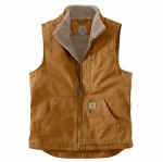 104277 Washed Duck Sherpa-Lined Mockneck Vest In Store Prices May Be Lower Please Call