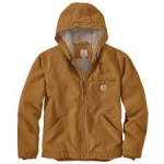 104392 Washed Duck Sherpa-Lined Jacket In Store Prices May Be Lower Please Call