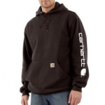 K288 Midweight Signature Sleeve Logo Hooded Sweatshirt-In Store prices May Be Lower Please Call